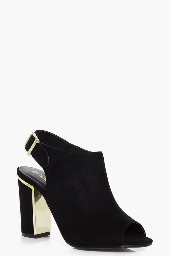 Eva Wide Fit Block Heel Shoe Boot