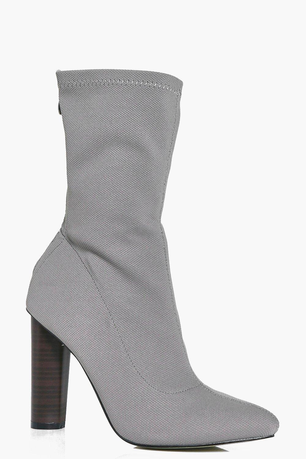 Heidi Cylinder Heel Pointed Sock Boot