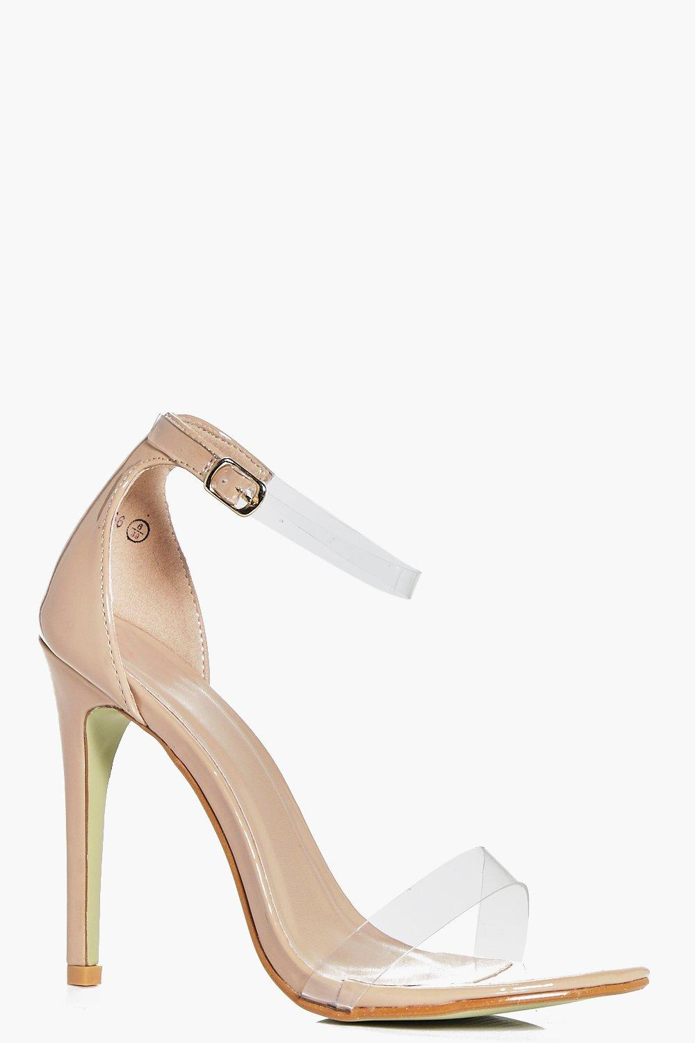 Julia Clear Strap Two Part Heels