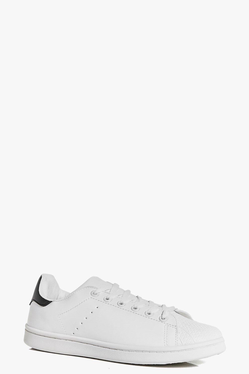 Ella Textured Toe Cap Lace Up Trainer