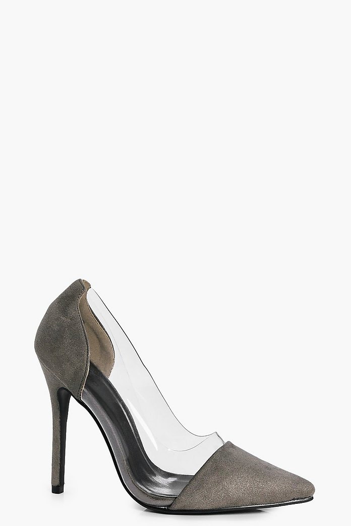 Lydia Clear Side Pointed Court Shoes