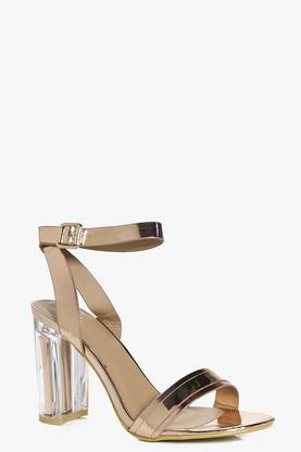 Maisy Two Part Clear Block Heel