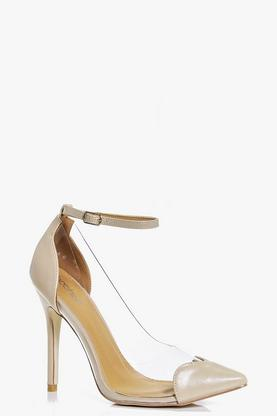 Zoe Ankle Band Clear Side Heart Detail Courts