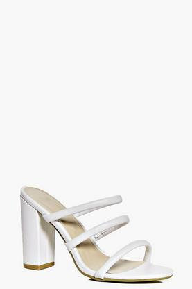 Sarah Triple Band Block Heel Mule