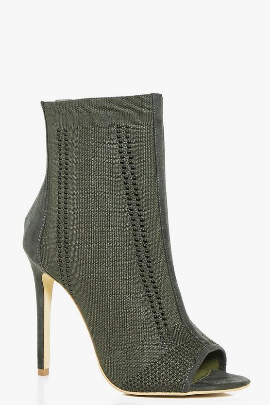 Rebecca Peeptoe Knitted Shoe Boot