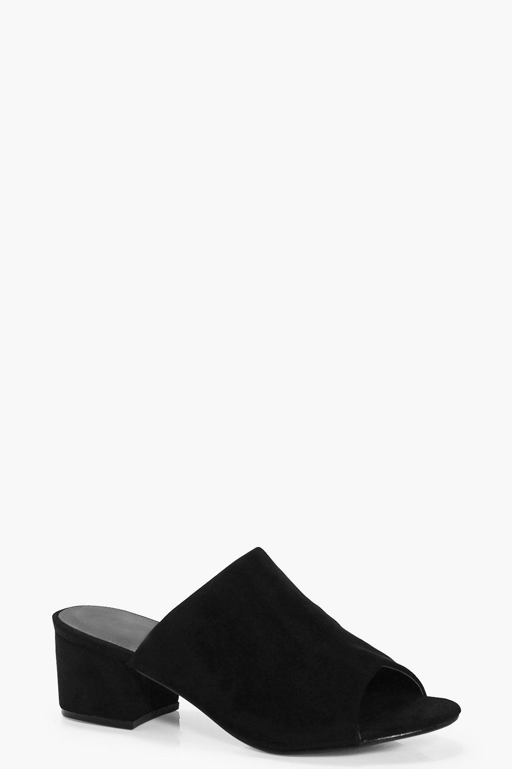 Frances Wide Fit Block Heel Mule