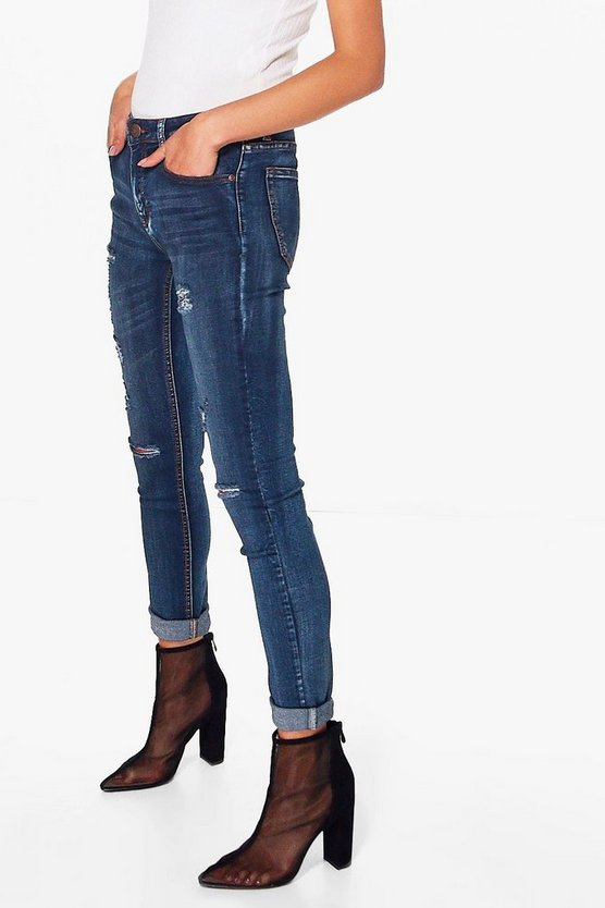 Alana Mid Rise Skinny Jeans