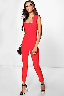 Ala Square Neck Skinny Leg Jumpsuit