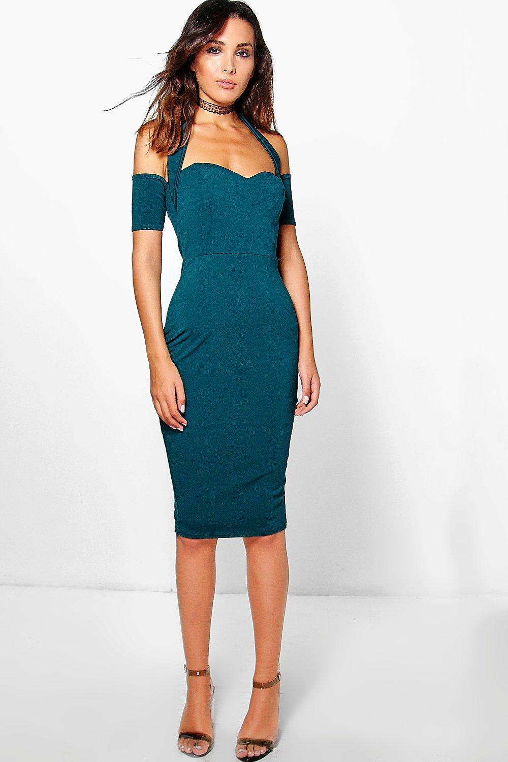 Jodie Haltered Midi Bodycon Dress