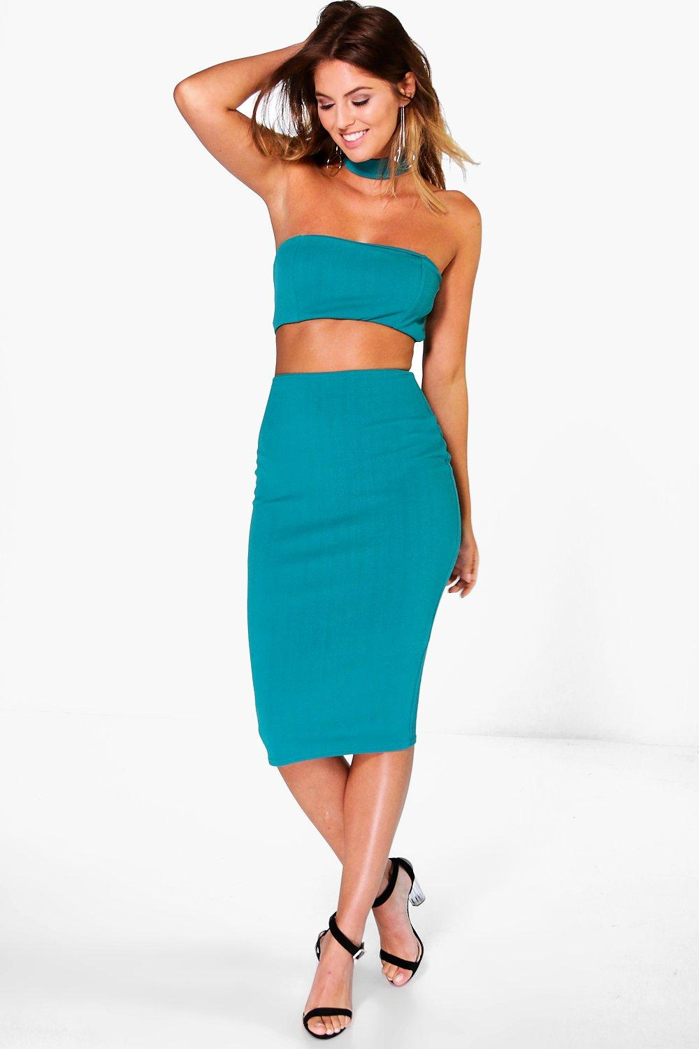 Jelena Choker Cut Out Midi Dress
