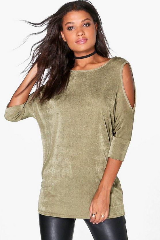 Rosie Slinky Cold Shoulder Top