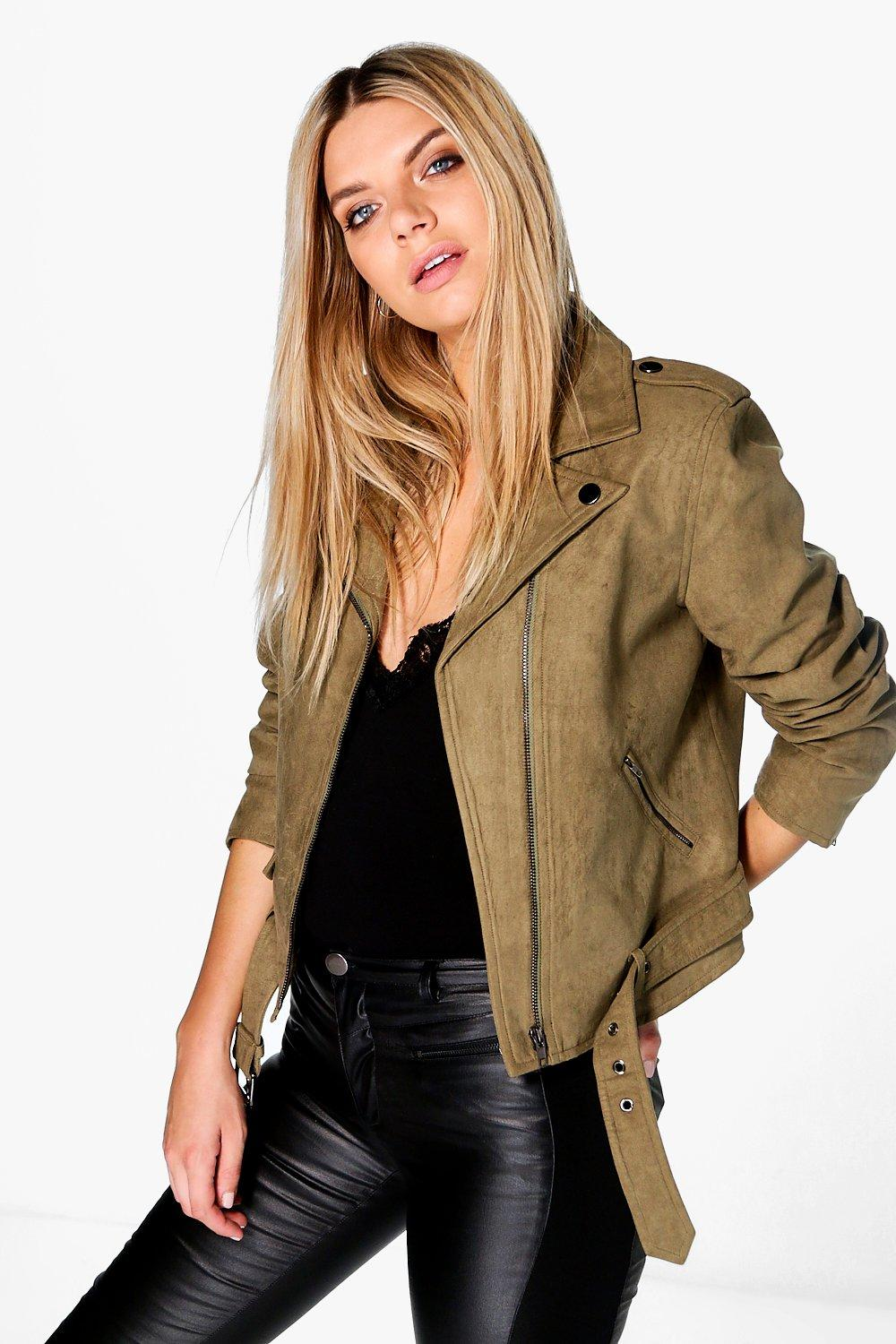 Niamh Boutique Faux Suede Biker Jacket