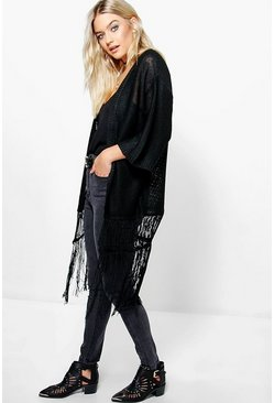 Faye Edge To Edge Tassle Cardigan