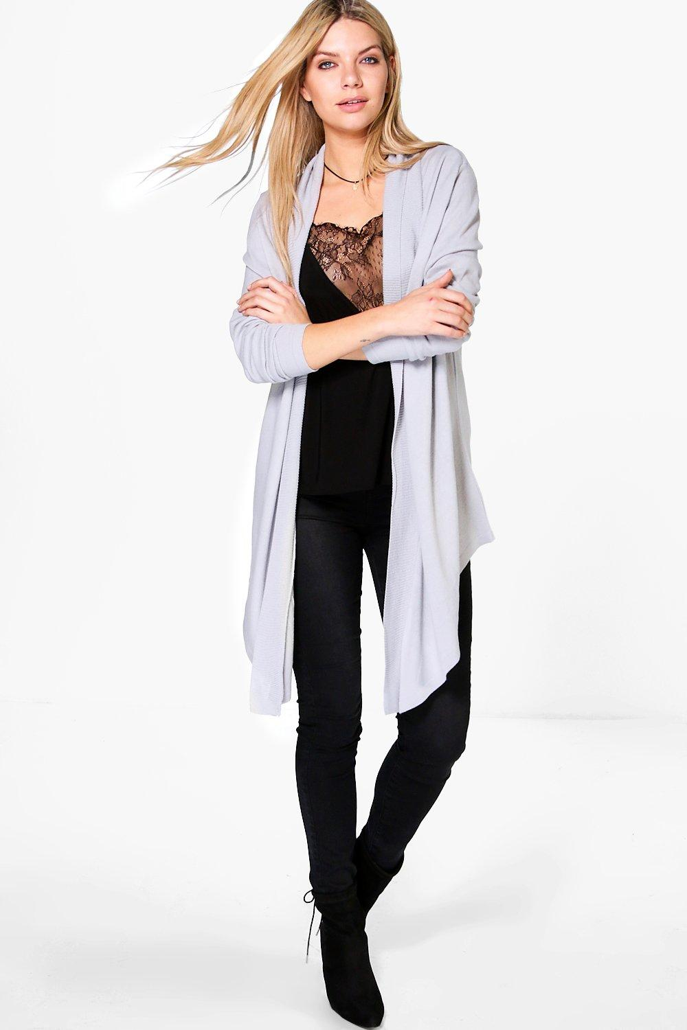 Belle Fine Knit Waterfall Cardigan
