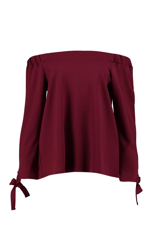Emma Tie Sleeve Bardot Top
