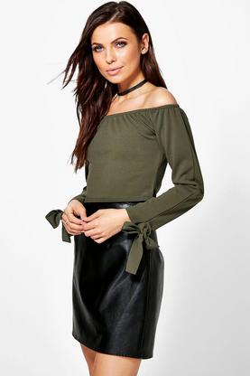 Alice Tie Sleeve Bardot Top