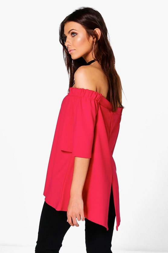 Molly Split Back Bardot Tunic