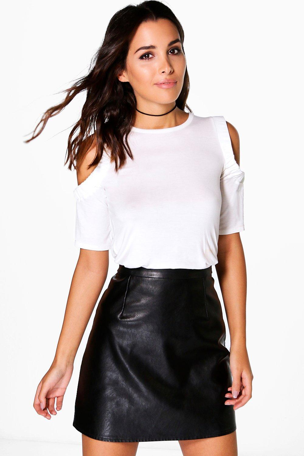 Eleanor Ruched Cold Shoulder T-shirt