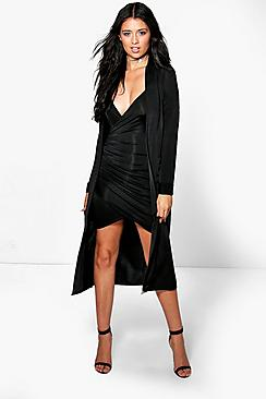 Isla Slinky Wrap Drape Dress & Duster Co-ord