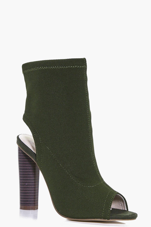 Ellie Peeptoe Open Back Shoe Boot