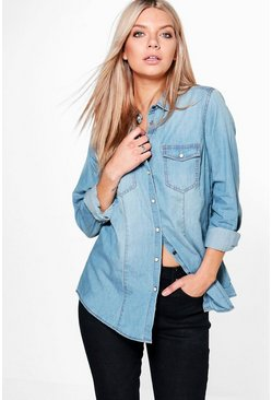 Rose Slim Fit Denim Shirt