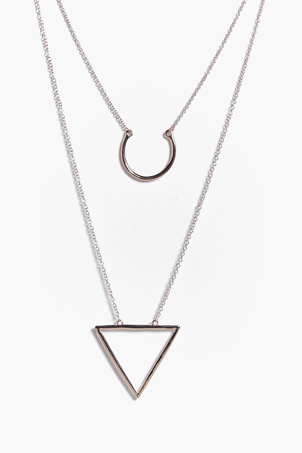 Lucie Triangle and Loop Layered Necklace