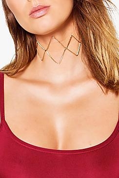 Lydia Open Metal Ribbon Tie Choker