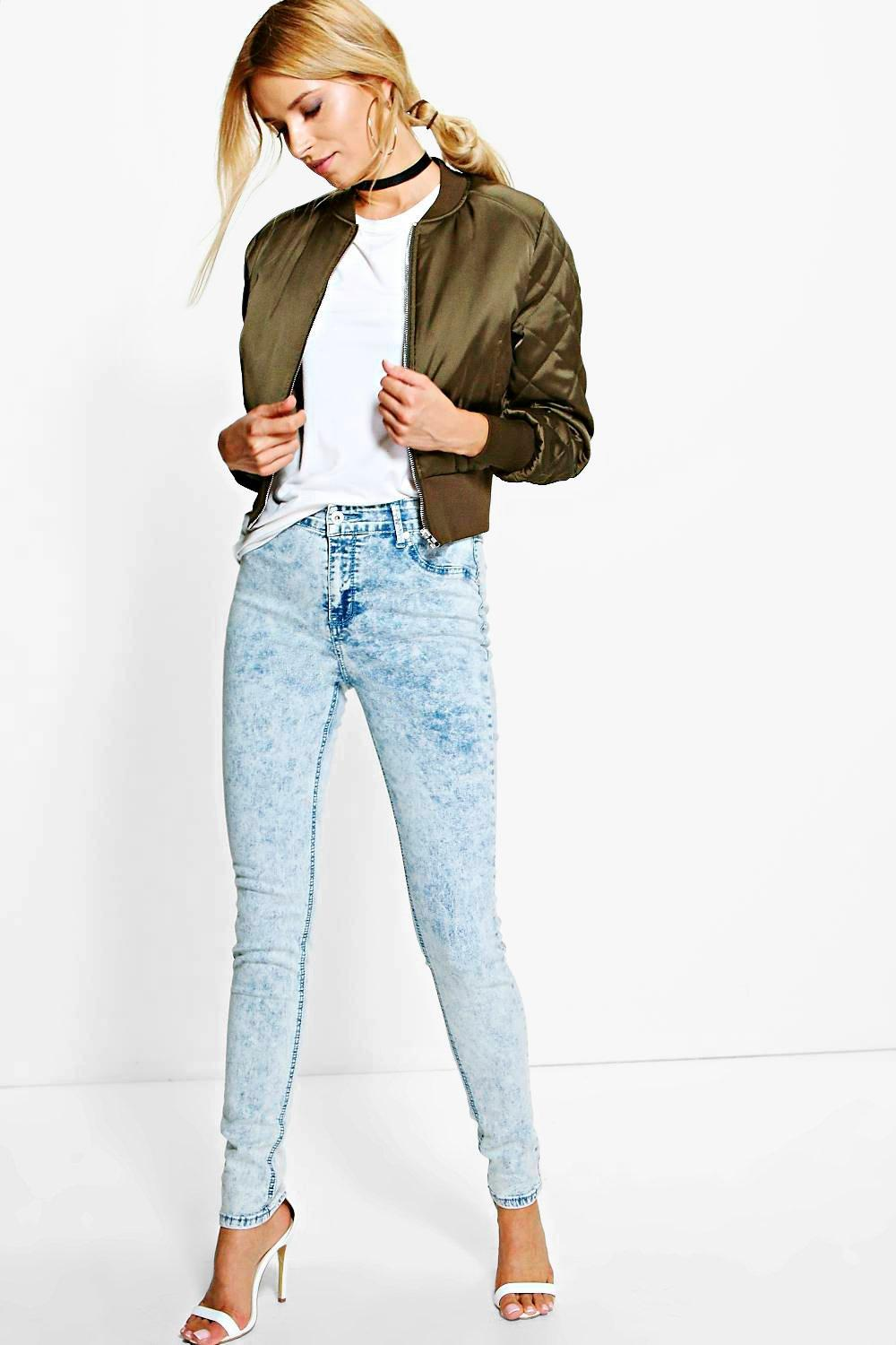 Nia Snow Wash Denim Jeans