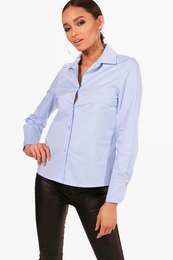 Mia Fitted Cotton Shirt
