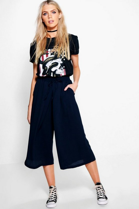 Ellie Crepe Crop Trouser
