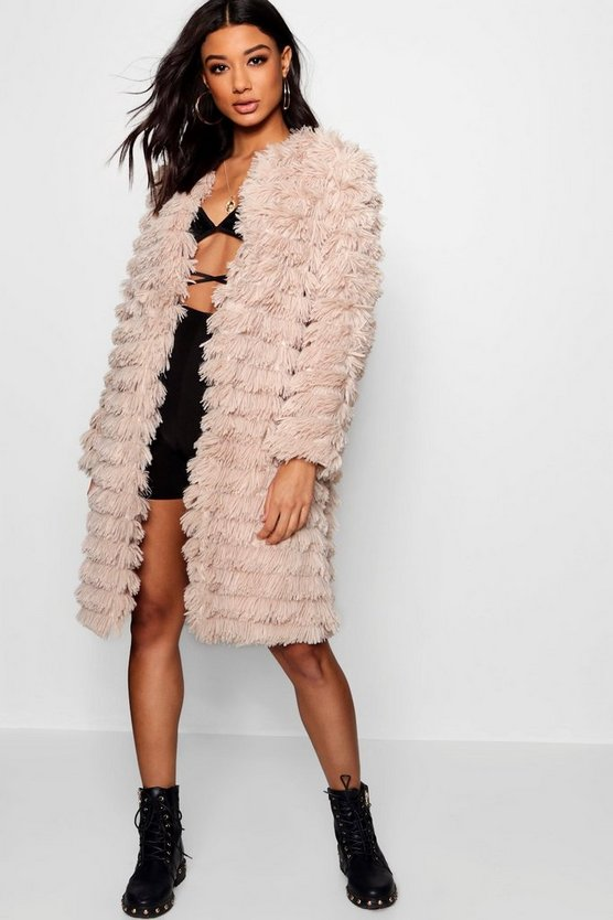 Alisha Shaggy Faux Fur Coat