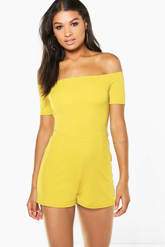 Diana Off The Shoulder Playsuit