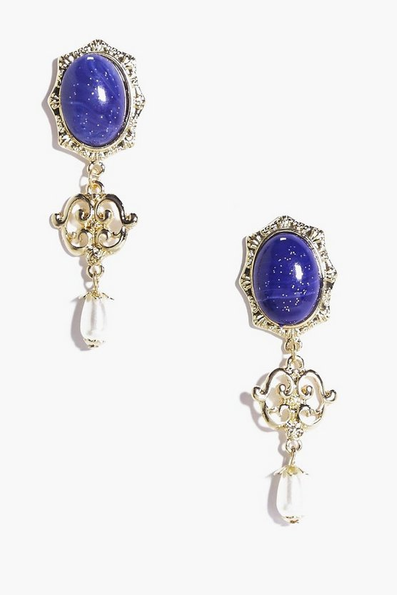 Louise Pearl and Stone Embellished Earrings