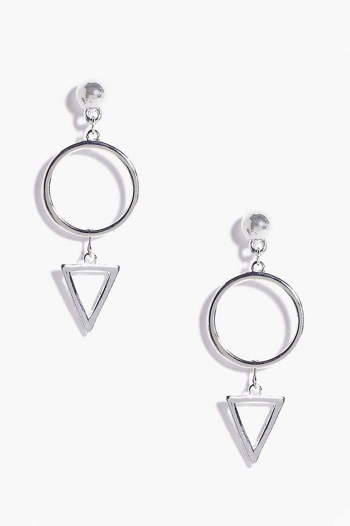 Kate Circle and Triangle Earrings