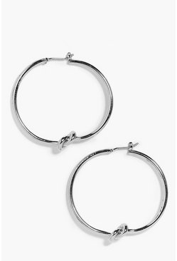 Melissa Twisted Knot Hoop Earrings