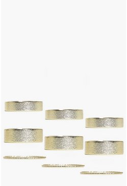 Cerys Mixed Size Sparkle Finish Ring Pack