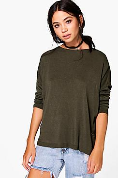 Emma Oversized Fine Gauge Jumper With Pockets