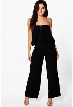 Layla Sweetheart Bandeau & Wide Leg Trouser Co-Ord