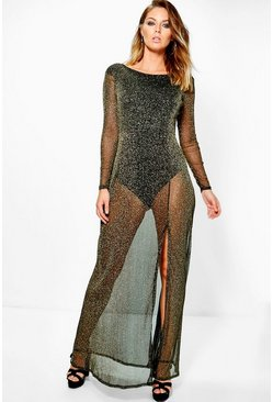 Hedda Metalic Maxi Dress With Bodysuit