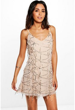 Taylor Strappy Sequin Swing Dress