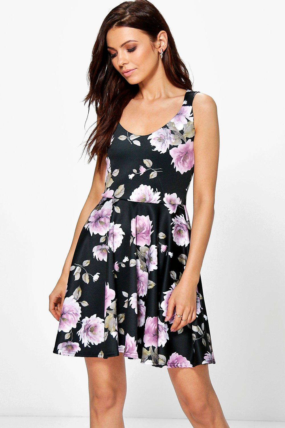 Jacinta Floral Sweetheart Skater Dress