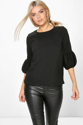 Polly Crepe Puff Sleeve Top