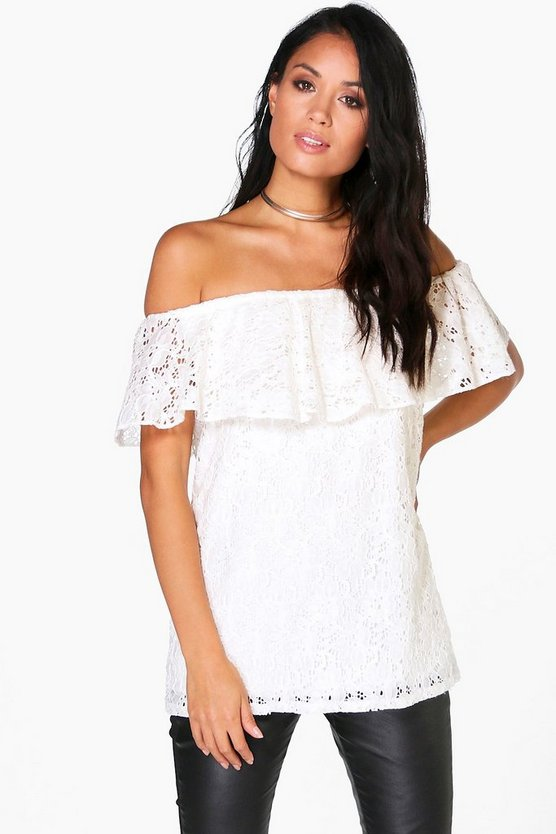 Cleo Lace Bardot Top