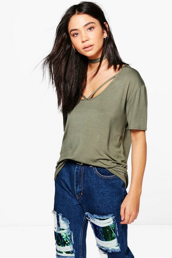Ivy Strappy Front Choker T-Shirt