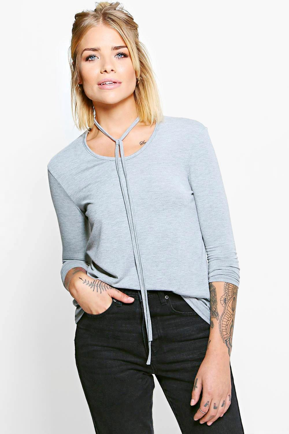 Ivy Skinny Choker Long Sleeve T-Shirt
