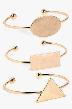Emily Geometric Detail Cuff 3 Pack