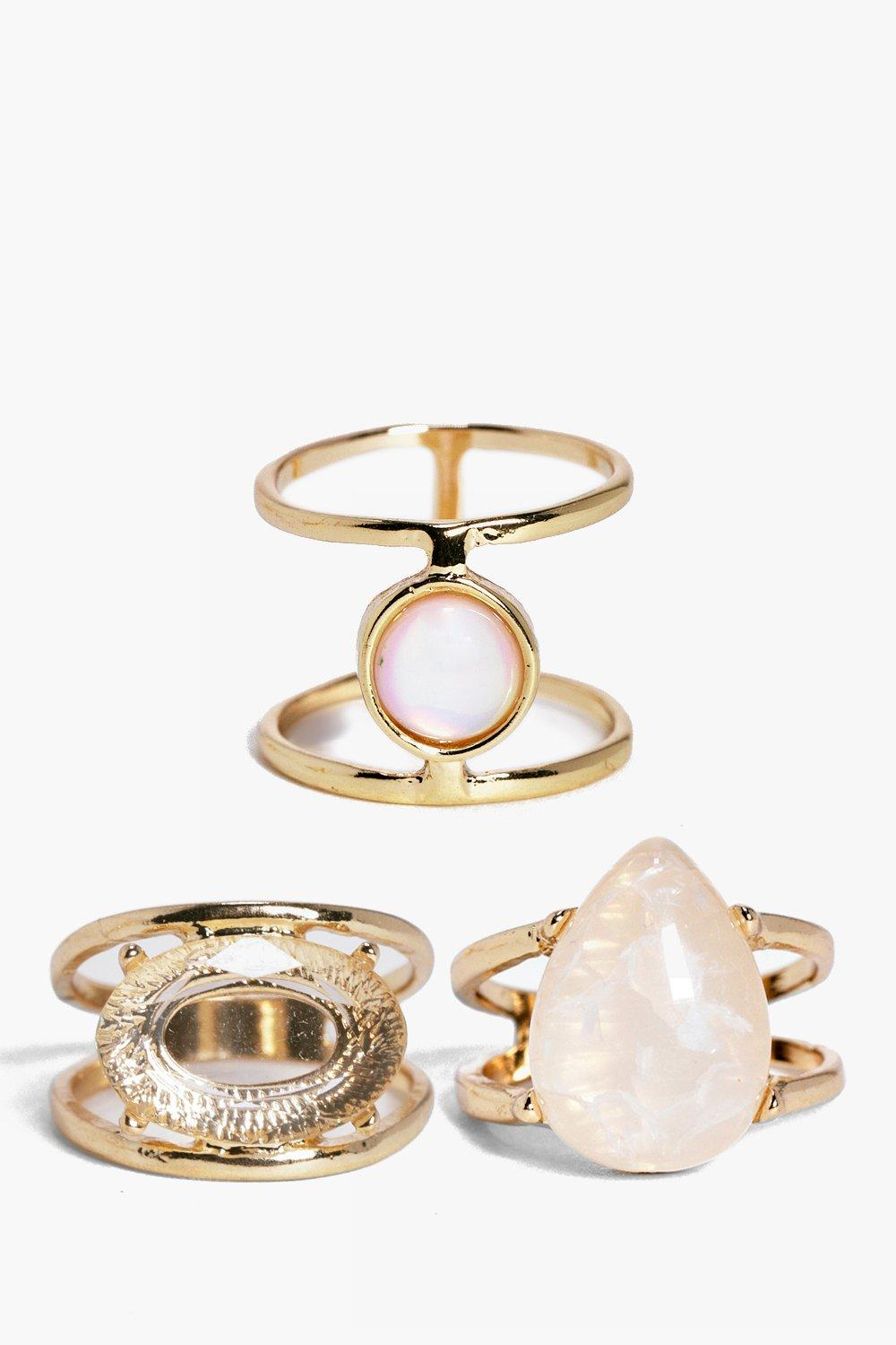 Holly Stone Detail Ring Pack