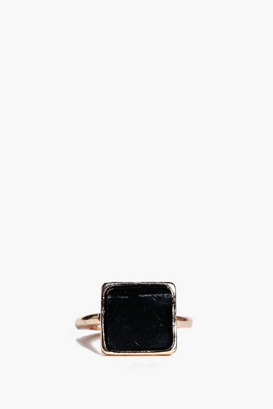 Abigail Square Stone Ring