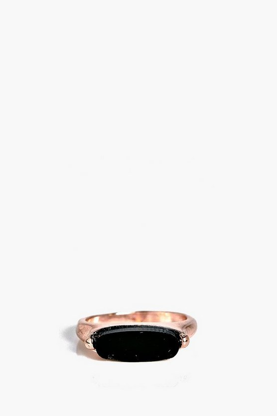 Poppy Metal Bar Ring