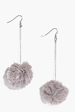 Megan Faux Fur Pom Earrings